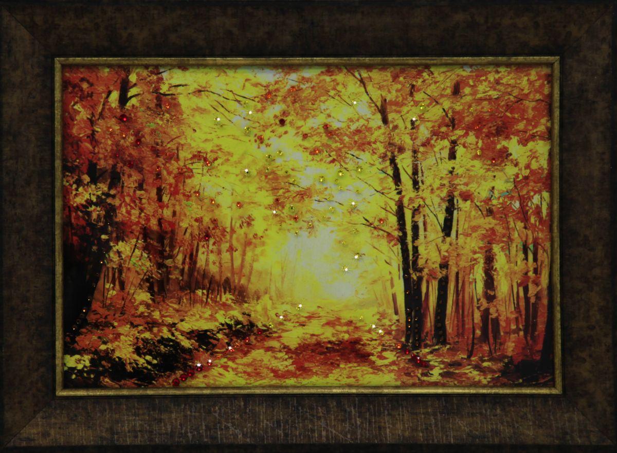 1693 Картина СваровскиЗолотая пора1693Картина в багете, инкрустированная кристалами сваровски
