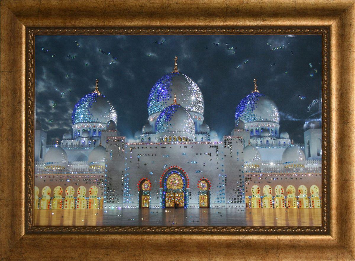 1703 Картина СваровскиМечеть-Дворец1703Картина в багете, инкрустированная кристалами сваровски