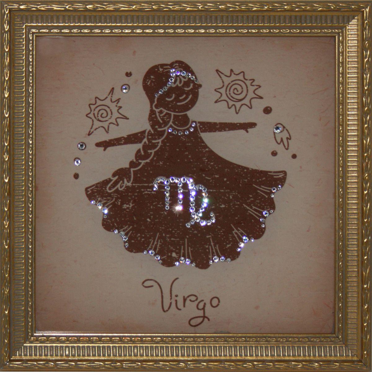 1706 Картина Сваровски Дева Малая1706Картина в багете, инкрустированная кристалами сваровски