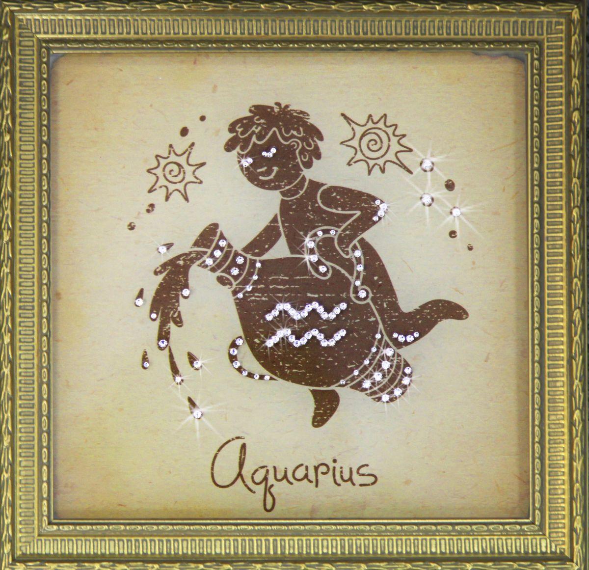 Картина Сваровски Водолей малый1711Картина в багете, инкрустированная кристаллами Сваровски.