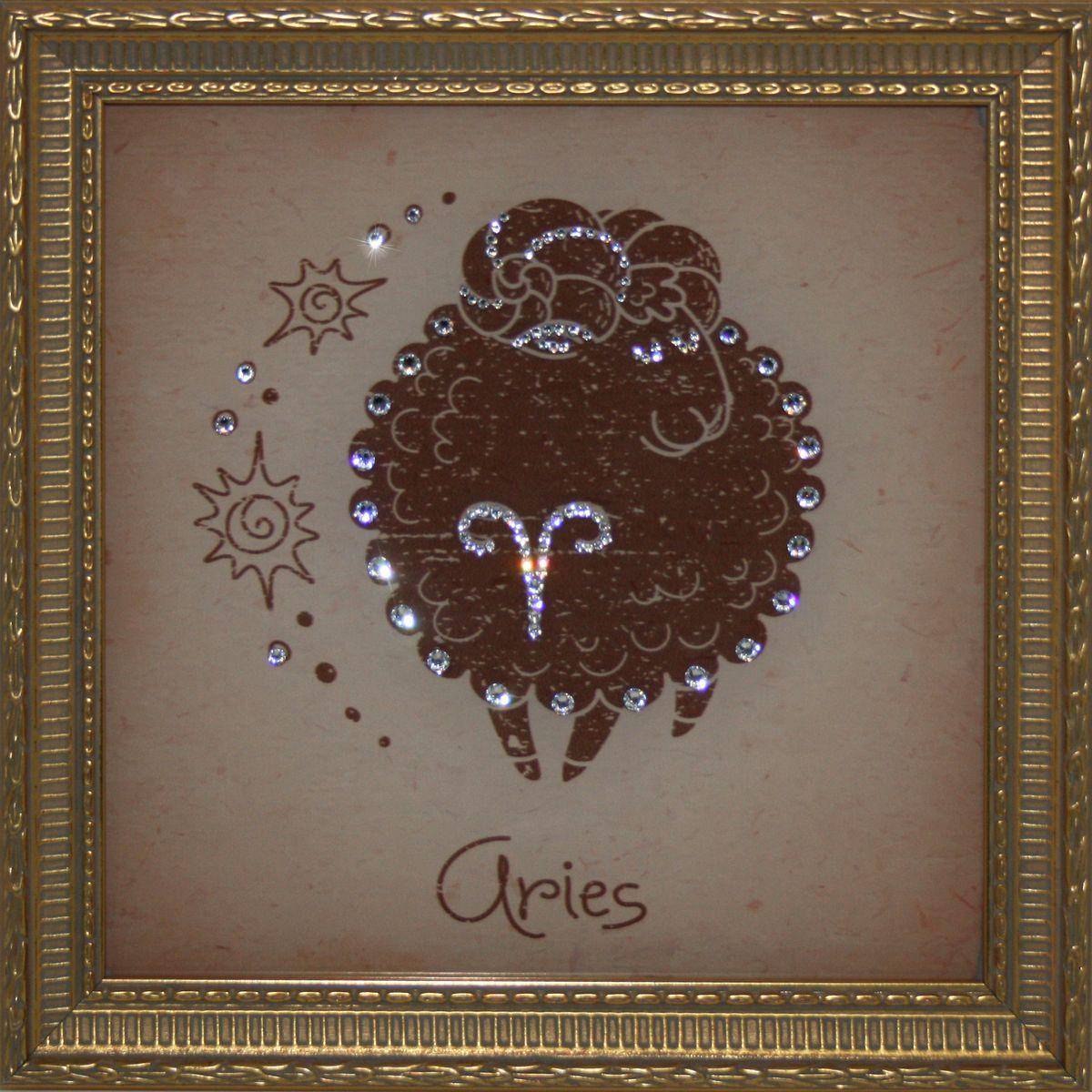 1713 Картина СваровскиОвен Малые1713Картина в багете, инкрустированная кристалами сваровски