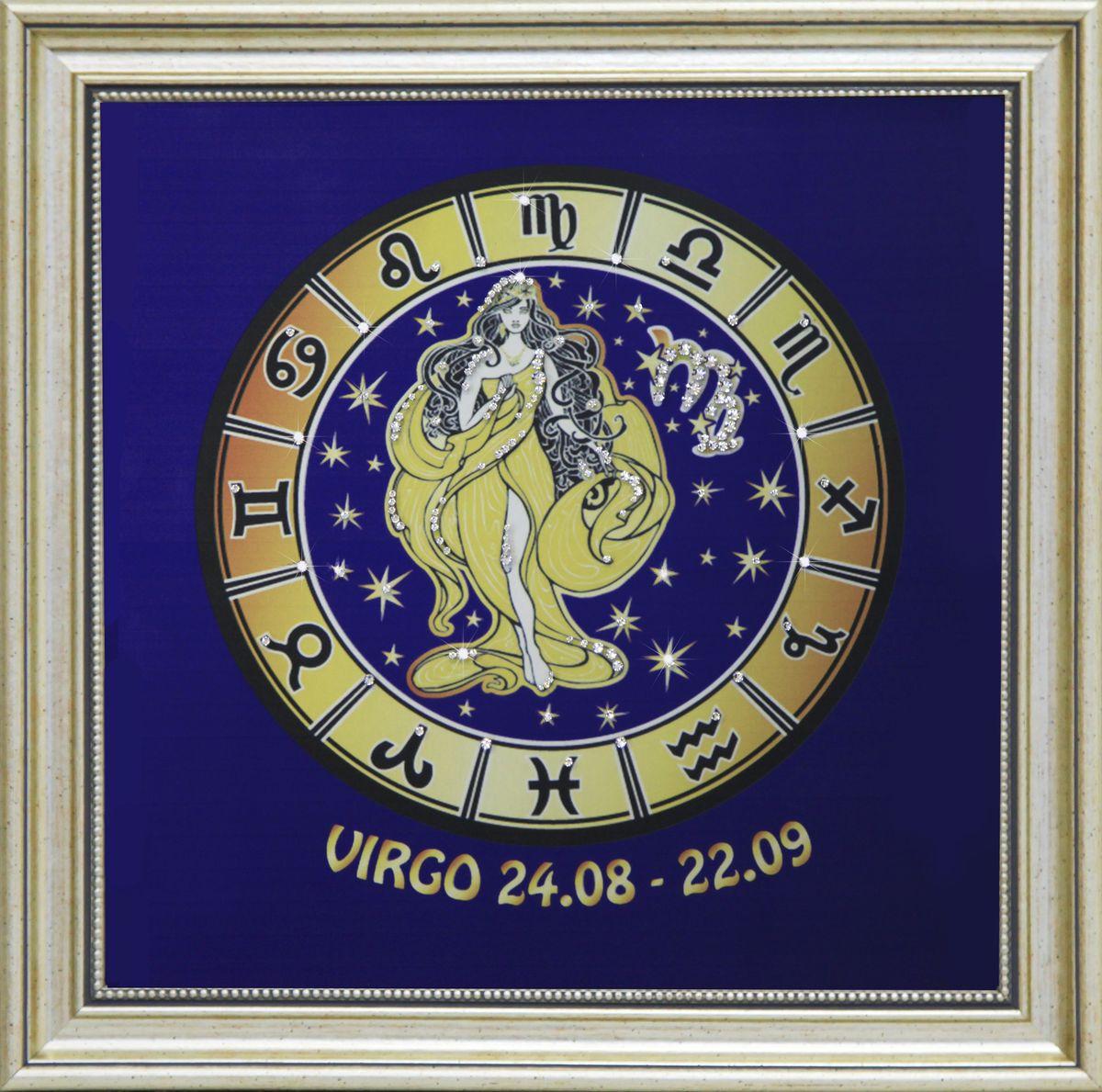 1738 Картина СваровскиЗвездная дева1738Картина в багете, инкрустированная кристалами сваровски