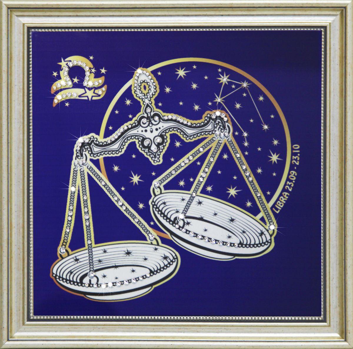1739 Картина СваровскиЗвездные весы1739Картина в багете, инкрустированная кристалами сваровски