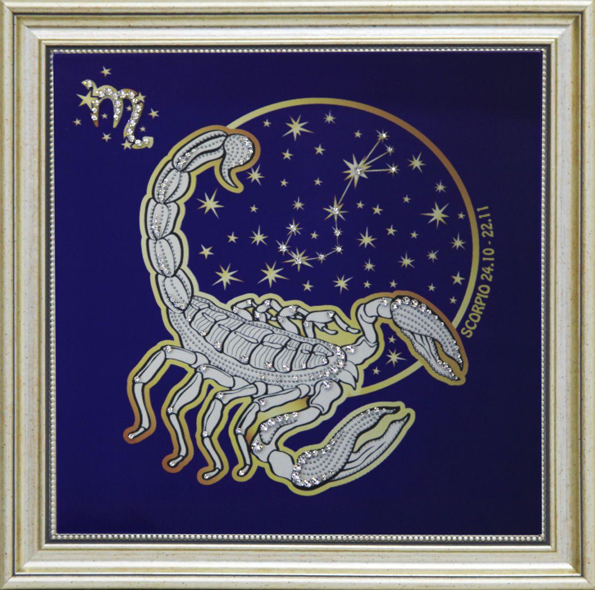 1740 Картина СваровскиЗвездный скорпион1740Картина в багете, инкрустированная кристалами сваровски