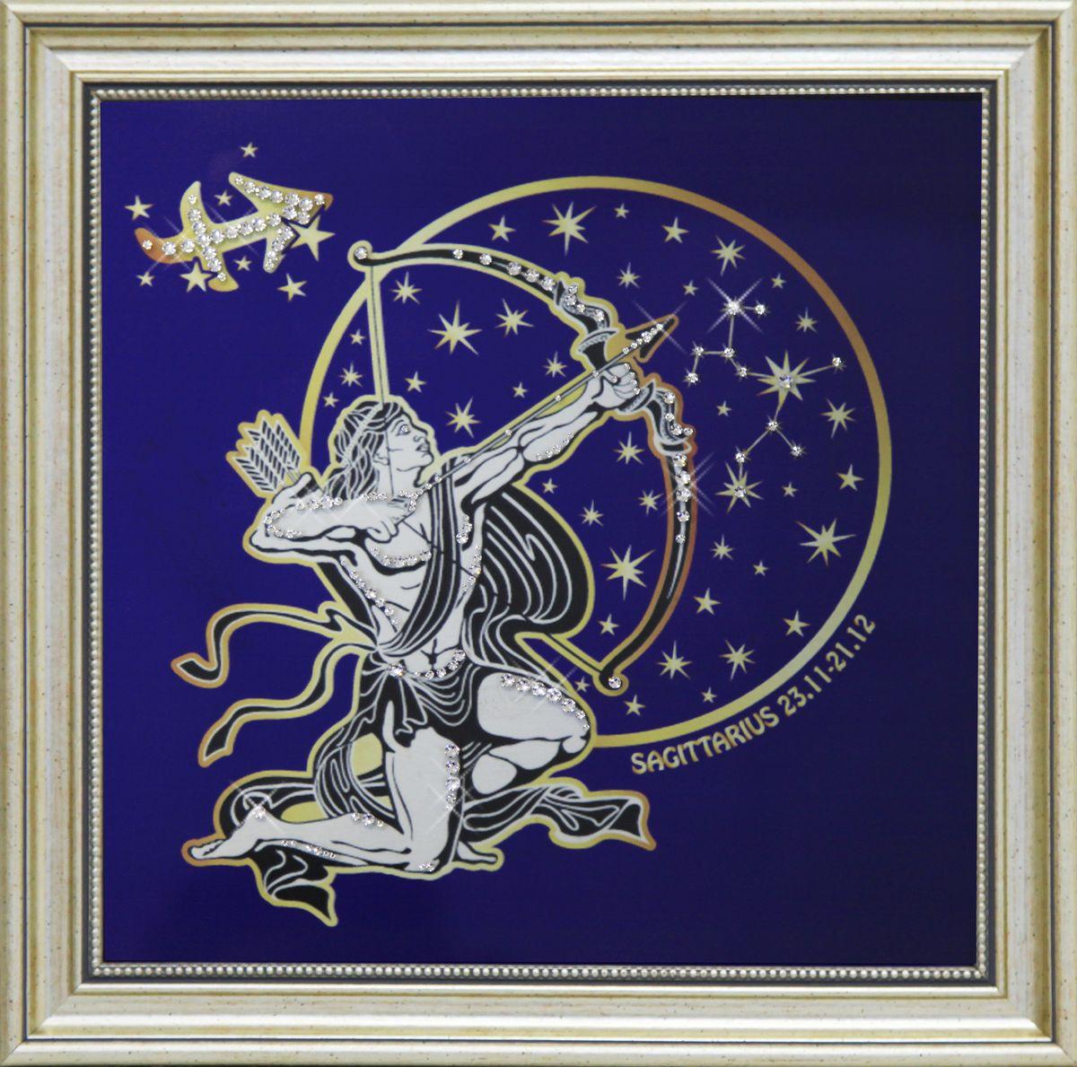 1741 Картина СваровскиЗвездный Стрелец1741Картина в багете, инкрустированная кристалами сваровски