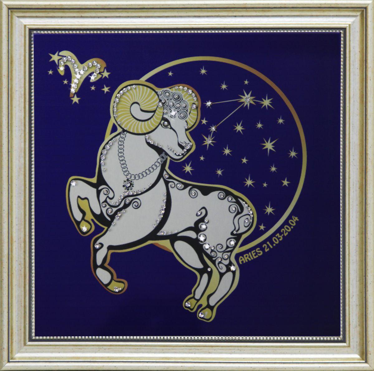 1745 Картина Сваровски Звездный Овен1745Картина в багете, инкрустированная кристалами сваровски