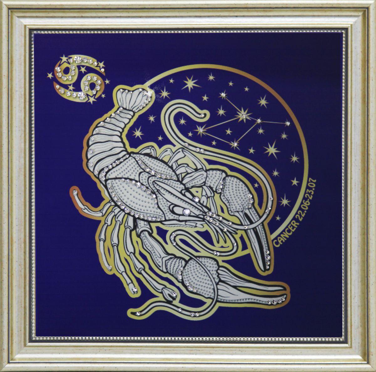 1736 Картина СваровскиЗвездный рак1736Картина в багете, инкрустированная кристалами сваровски