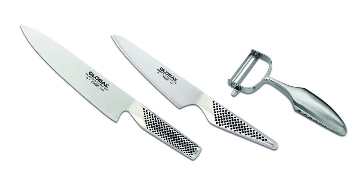 Набор ножей Global, 3 предмета. G-23680 набор ножей global yoshikin 3 предмета цвет серебристый черный g 21524
