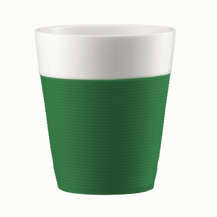 Набор стаканов Bistro 0.3 л 2 шт., зелен., арт.A11582-825-Y15A11582-825-Y15Набор стаканов Bodum Bistro состоит из 2 фарфоровых стаканов высокого качества. Изделияобернуты яркой силиконовой лентой, которая защищает вашу руку от чрезмерно высокойтемпературы напитка. Такие стаканы приятны на ощупь и позволяют удобно держать стакан вруках. Благодаря двойным стенкам, напиток в такой кружке остается горячим гораздо дольше.Такой набор порадует вас и ваших близких своим ярким дизайном и удивит своим качеством. Диаметр стакана (по верхнему краю): 8,5 см. Высота стенки: 10 см. Диаметр основания: 6 см.