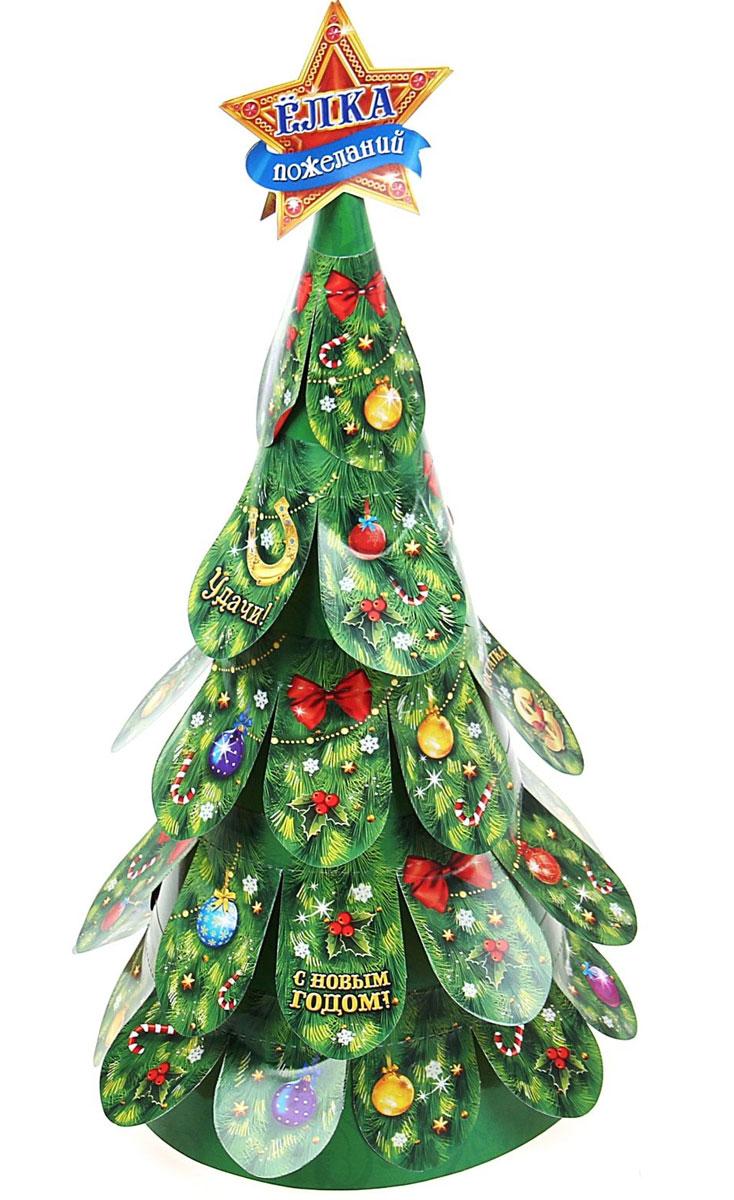 Новогоднее украшение Sima-land Елка. Пожелания, с отрывными листами, 14,5 см х 14,5 см х 30,5 см свеча ароматизированная sima land лимон на подставке высота 6 см