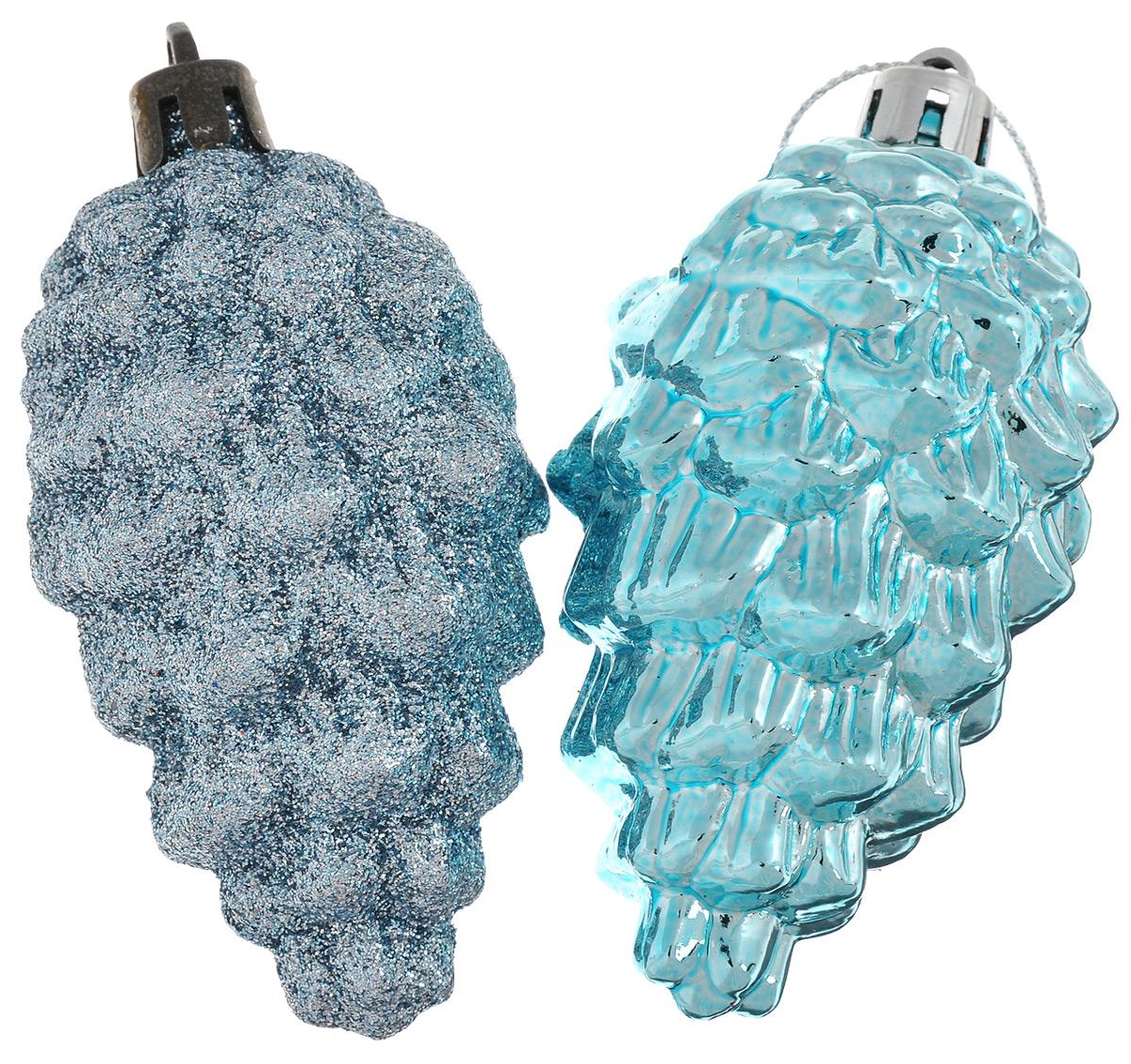 Новогоднее подвесное украшение Феникс-презент Шишка, цвет: небесно-голубой, высота 9 см, 2 шт39017Новогоднее подвесное украшение Феникс-презент Шишка отлично подойдет для декора праздничной ели. В наборе две игрушки, выполненные из пластика в виде шишек. Одна из шишек покрыта блестками. Игрушки оснащены петельками для подвешивания. Елочная игрушка - символ Нового года. Она несет в себе волшебство и красоту праздника. Создайте в своем доме атмосферу веселья и радости, украшая новогоднюю елку нарядными игрушками, которые будут из года в год накапливать теплоту воспоминаний. Серия украшений Magic Time принесет в ваш дом ни с чем не сравнимое ощущение праздника.
