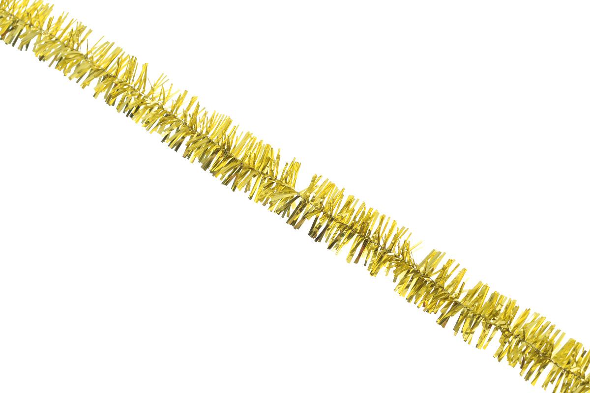 Мишура новогодняя Sima-land, цвет: золотистый, диаметр 1,5 см, длина 127 см. 701303701303_золотистыйНовогодняя мишура Sima-land, выполненная из фольги, поможет вам украсить свой дом к предстоящим праздникам. А новогодняя елка с таким украшением станет еще наряднее. Мишура армирована, то есть имеет проволоку внутри и способна сохранять приданную ей форму. Новогодней мишурой можно украсить все, что угодно - елку, квартиру, дачу, офис - как внутри, так и снаружи. Можно сложить новогодние поздравления, буквы и цифры, мишурой можно украсить и дополнить гирлянды, можно выделить дверные колонны, оплести дверные проемы.