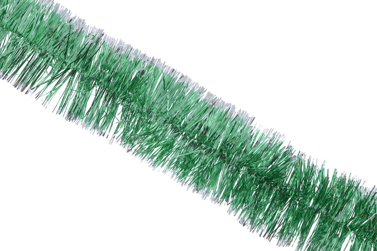 Мишура новогодняя Sima-land, цвет: зеленый, серебристый, диаметр 6 см, длина 160 см. 701306701306_зеленый, серебристыйНовогодняя мишура Sima-land, выполненная из фольги, поможет вам украсить свой дом к предстоящим праздникам. А новогодняя елка с таким украшением станет еще наряднее. Мишура армирована, то есть имеет проволоку внутри и способна сохранять любую форму, которую вы ей придадите. Новогодней мишурой можно украсить все, что угодно - елку, квартиру, дачу, офис - как внутри, так и снаружи. Можно сложить новогодние поздравления, буквы и цифры, мишурой можно украсить и дополнить гирлянды, можно выделить дверные колонны, оплести дверные проемы.