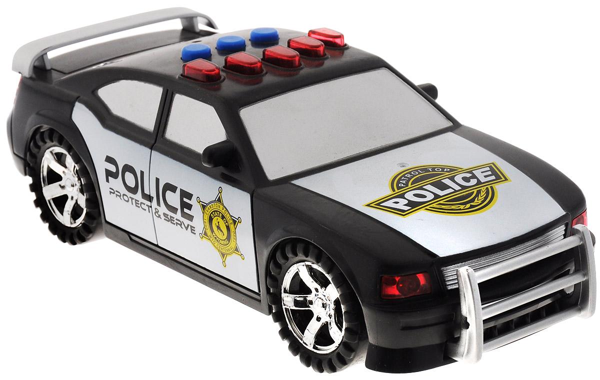 Big Motors Машина Police Car машина пламенный мотор дорожные работы со световыми и звуковыми эффектами