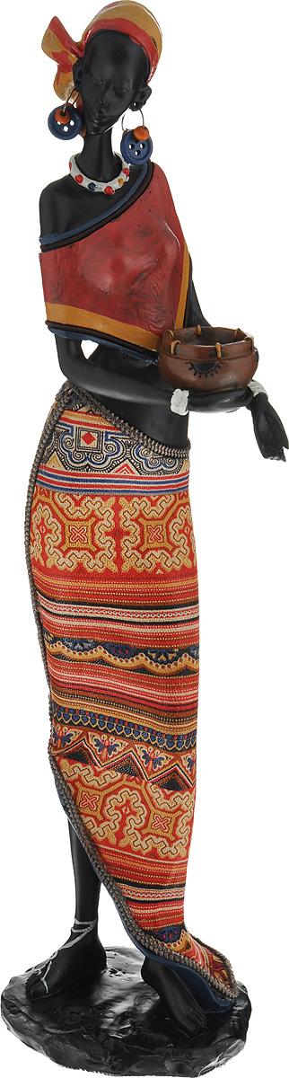 Декоративная фигурка Феникс-презент Африканка с горшочком, высота 37,5 см37915Декоративная фигурка Феникс-презент Африканка с горшочком, изготовленная из полирезина, достойно украсит интерьер вашего дома или офиса. Она выполнена в виде африканской девушки в национальной одежде с горшком в руках. Вы можете поставить украшение в любом месте, где оно будет удачно смотреться и радоватьглаз. Кроме того, это отличный вариант подарка для ваших близких и друзей.Высота: 37,5 см.