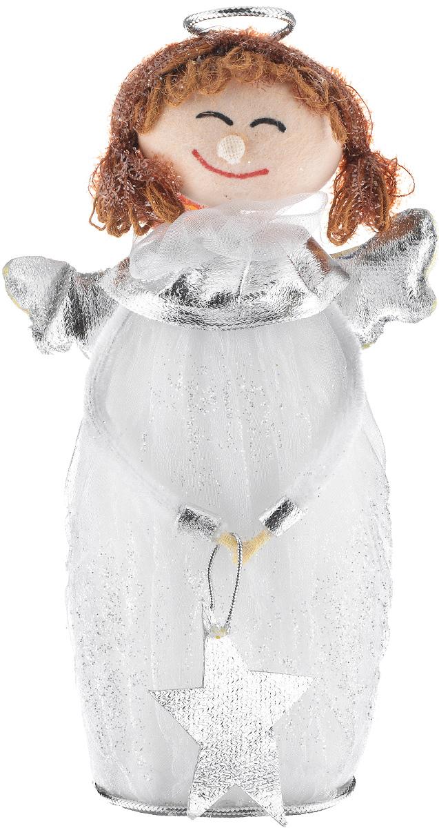 Новогодняя декоративная фигурка Sima-land Девочка-ангел, высота 21 см новогодняя декоративная фигурка sima land дед мороз анимированная высота 28 см 827820