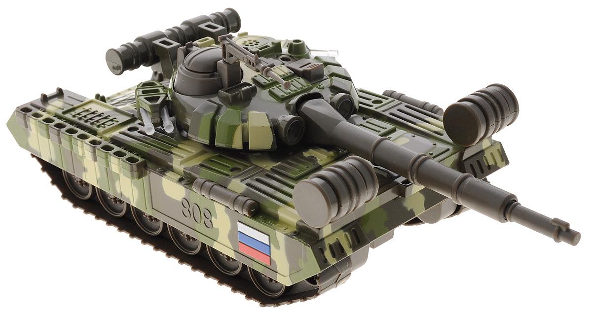 ТехноПарк Игрушка Танк Т-90 цвет зеленый хаки