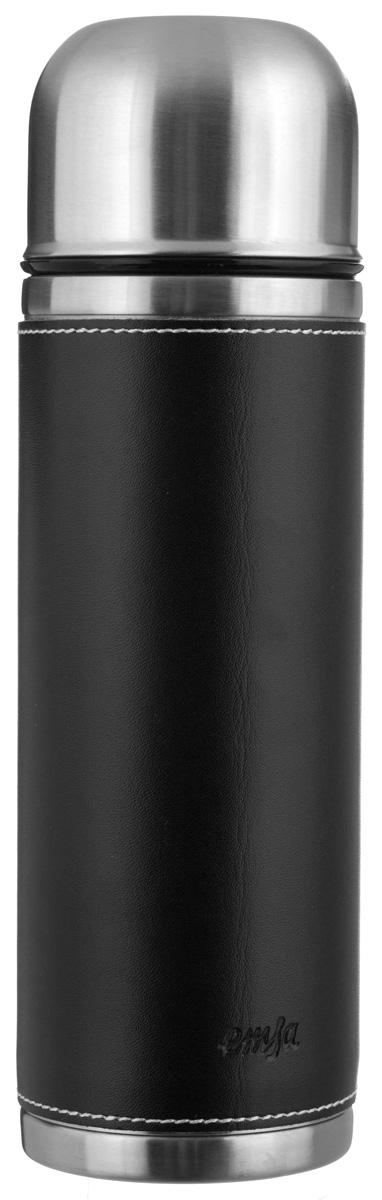 Термос Emsa Senator Class, цвет: черный, 1 л502437Простая и гармоничная форма термоса Emsa Senator Class, выполненного из стали, удовлетворит желания любого потребителя. Внешняя сторона изделия одета в кожаный чехол, что позволяет надежно держать его в руках. Термос оснащен герметичным клапаном и крышкой, которую можно использовать в качестве стакана, а благодаря системе высококачественной вакуумной изоляции он сохранит ваши напитки горячими или холодными надолго. Диаметр горлышка термоса: 5 см.Диаметр дна термоса: 8,5 см.Высота термоса (с учетом крышки): 29,5 см.Сохранение холодной температуры: 24 ч.Сохранение горячей температуры: 12 ч.