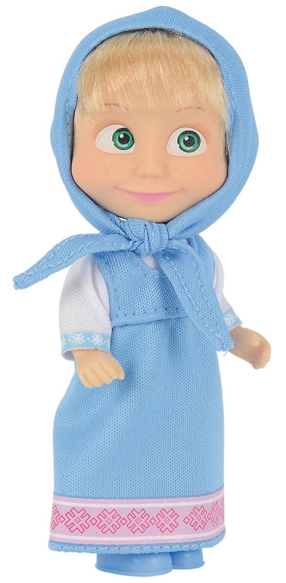 Simba Мини-кукла Маша в голубом сарафане кукла simba маша в сарафане в ассортименте