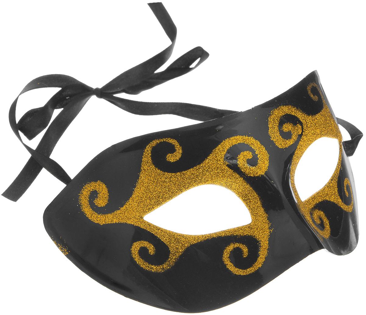 Маска карнавальная Феникс-Презент Черное золото пояс кисти черное золото 1 5 метровый 275