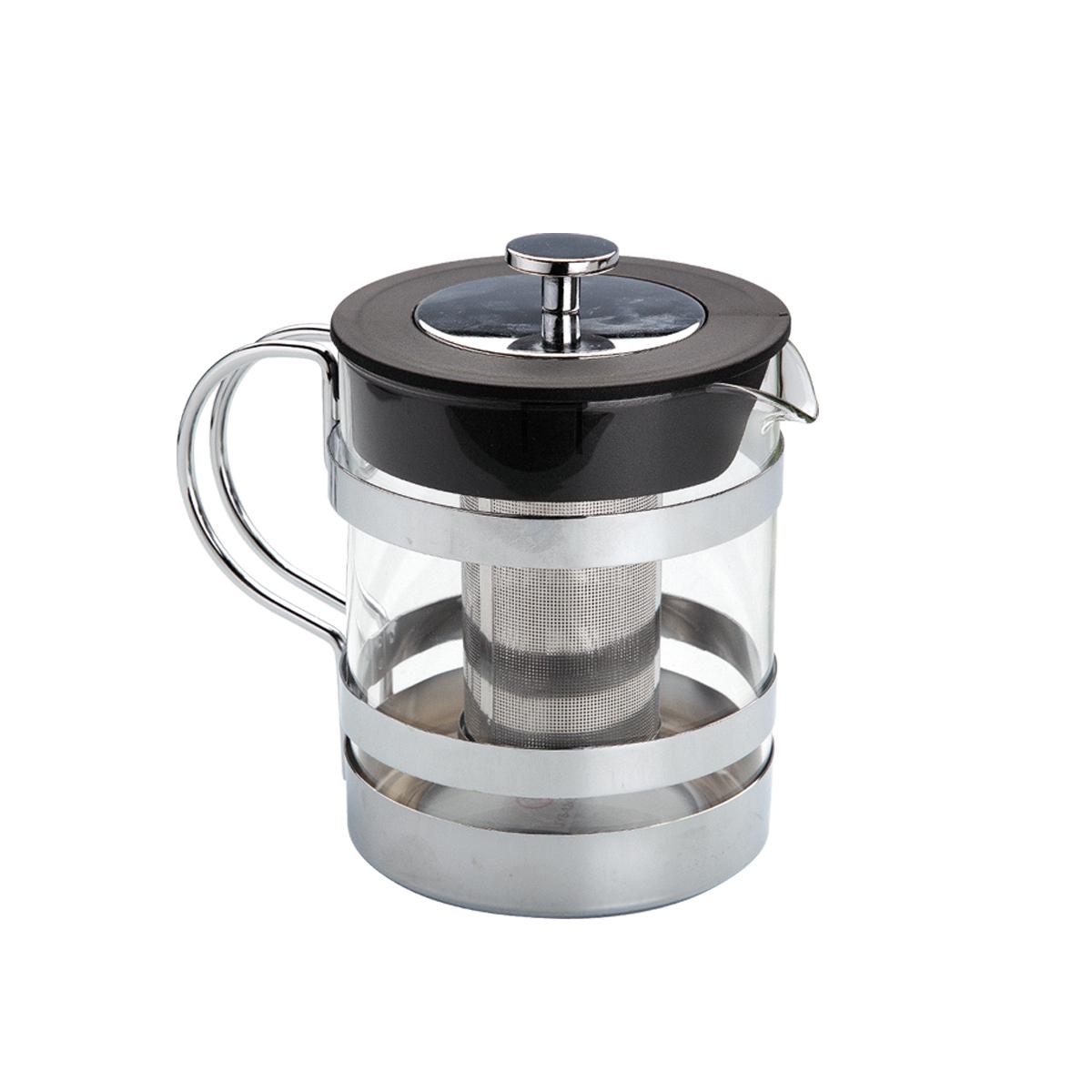 Чайник заварочный Augustin Welz, с фильтром, 1,2 лAW-2006Чайник заварочный Augustin Welz, изготовленный из закаленного стекла, предоставит вам все необходимые возможности для успешного заваривания чая. Чай в таком чайнике дольше остается горячим, а полезные и ароматические вещества полностью сохраняются в напитке. Чайник оснащен фильтром и крышкой. Фильтр выполнен из нержавеющей стали. Простой и удобный чайник поможет вам приготовить крепкий, ароматный чай.Рекомендуется ручная чистка в мыльной воде.Диаметр чайника (по верхнему краю): 11,5 см.Высота чайника (без учета крышки): 14,5 см.Высота фильтра: 9 см.