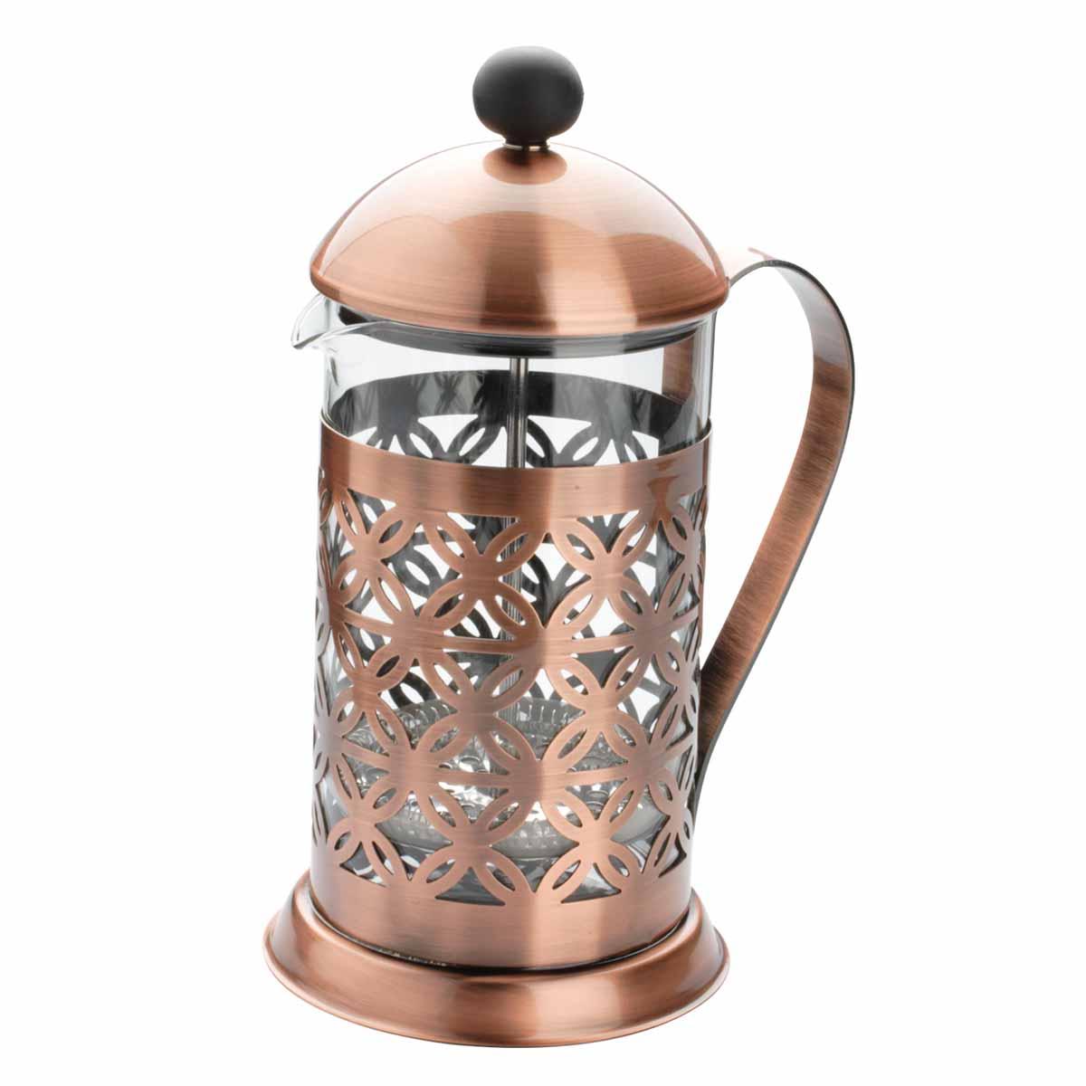 Френч-пресс Dekok Vintage, 800 мл. CP-1017CP-1017Френч-пресс Dekok Vintage легко разбирается и моется. Колба выполнена из жаропрочного стекла. Корпус, крышка и поршень изготовлены из нержавеющей стали. Конструкция носика антикапля удобна для разливания напитков в чашки.Прозрачные стенки чайника дают возможность наблюдать за насыщением напитка, а поршень позволяет с легкостью отжать заварочную гущу и получить напиток с насыщенным вкусом. Френч-пресс Dekok Vintage займет достойное место среди аксессуаров на вашей кухне. Не рекомендуется мыть в посудомоечной машине. Диаметр (по верхнему краю): 9,5 см. Высота чайника (без учета крышки): 17,5см.