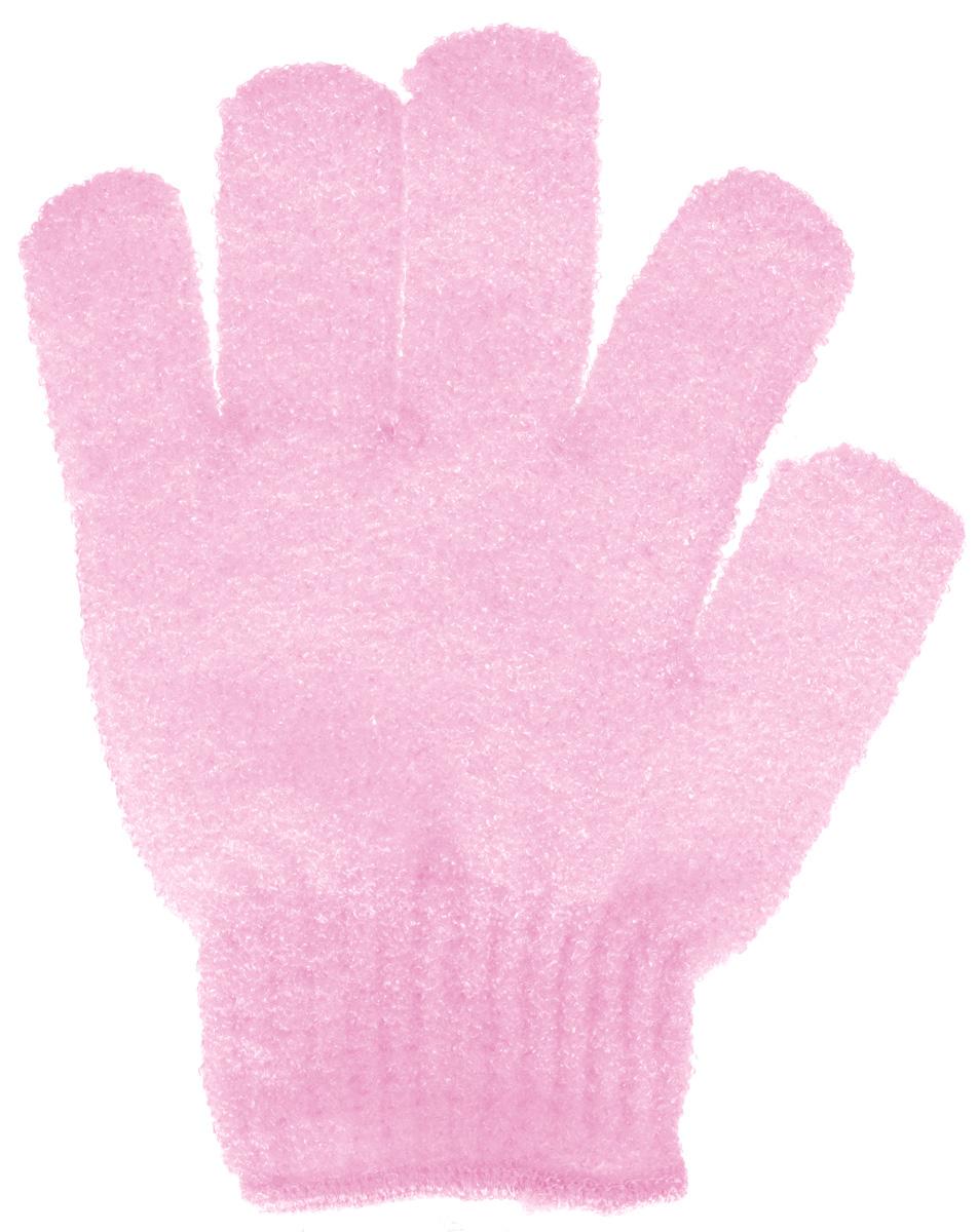 Мочалка-перчатка Банные штучки, цвет: розовый