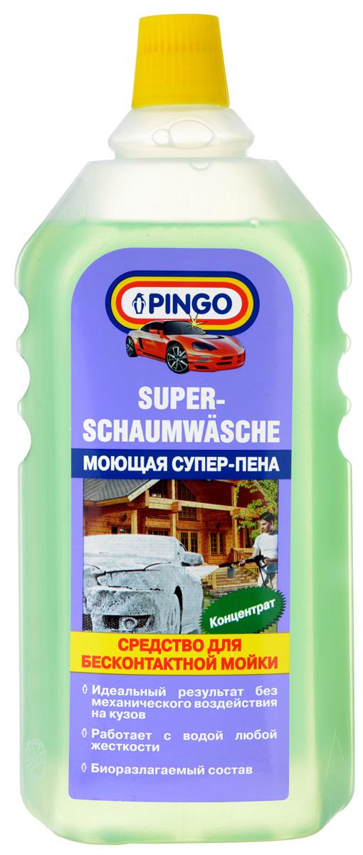 Средство для бесконтактной мойки Pingo Супер-пена, 1 л00689-8Средство Pingo Супер-пена - это профессиональный состав для мойки с помощью аппаратов высокого давления. Может применяться в пеногенераторах. Особенности: - быстро и эффективно очищает лакокрасочные покрытия, не повреждая пластиковых, резиновых и виниловых деталей;- легко удаляет масляные и бензиновые загрязнения, дорожную грязь, следы насекомых и почек деревьев;- использование средства для бесконтактной мойки позволяет избежать механического воздействия на лакокрасочное покрытие кузова;- применяется для мойки автомобилей, мотоциклов, прицепов, лодок и многого другого;- великолепный результат при использовании средства с водой любой жесткости. высокая степень биологической разлагаемости.Состав: анионные ПАВ, неионогенные ПАВ, комплексообразователь, гидроксид натрия, краситель, вода.Товар сертифицирован.