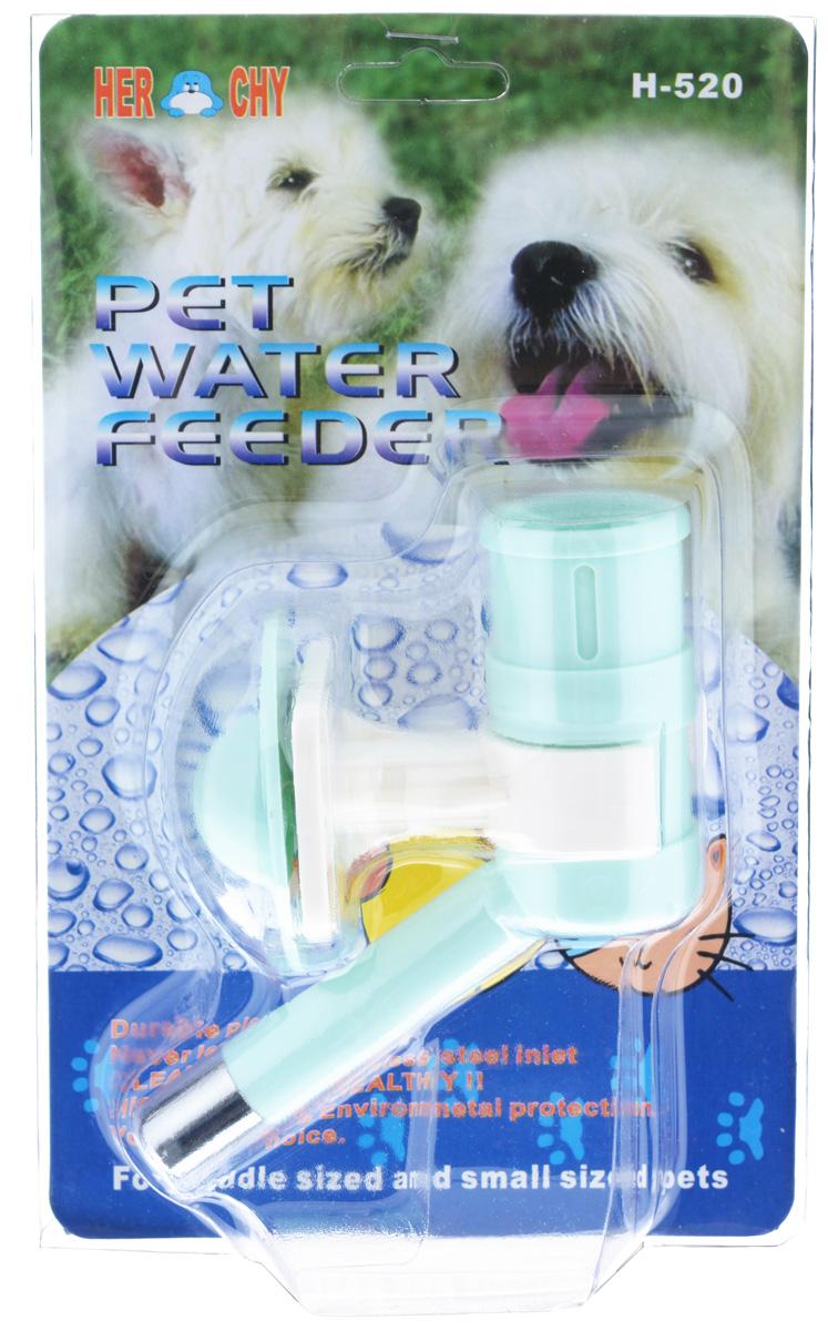 Автопоилка для животных V.I.Pet, универсальная, цвет: бирюзовый