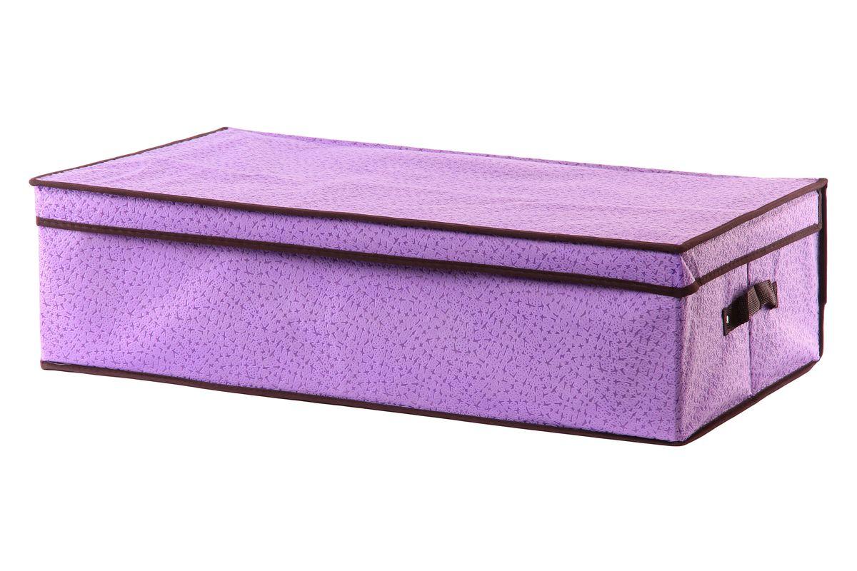 Кофр для хранения El Casa Звезды, подкроватный, цвет: фиолетовый, 70 х 40 х 20 см370038Складной кофр El Casa Звезды,выполненный из высококачественного нетканого материала, позволяет сохранять естественную вентиляцию. Благодаря удобной конструкции складывается и раскладывается одним движением. Для удобства в обращении по бокам имеются ручки. В сложенном виде изделие занимает минимум места, его легко хранить и перевозить. В таком кофре можно хранить всевозможные предметы: вещи, игрушки, рукоделие и многое другое. Яркий дизайн привнесет в ваш интерьер неповторимый шарм.Размер кофра (в собранном виде): 70 см х 40 см х 20 см.