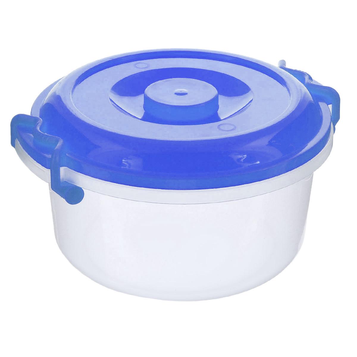 Контейнер Альтернатива, цвет: прозрачный, синий, 5 лМ097Контейнер Альтернатива изготовлен из высококачественного пищевогопластика. Изделие оснащено крышкой и ручками, которые плотно закрываютконтейнер. Также на крышке имеется ручка для удобной переноски. Емкостьпредназначена для хранения различных бытовых вещей и продуктов.Такойконтейнер очень функционален и всегда пригодится на кухне.Диаметр контейнера (по верхнему краю): 25 см.Высота стенок: 13,5 см.Объем: 5 л.