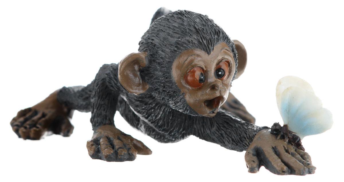 Сувенир-миниатюра Sima-land Обезьянка с бабочкой, 9,5 х 7 х 4 см сувенир sima land обезьянка в шарфике цвет желтый 7 х 5 7 х 8 5 см