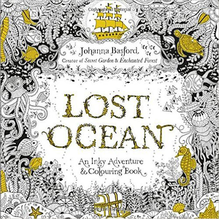 Lost Ocean: An Inky Adventure & Colouring Book lost ink lo019awgvm59 lost ink