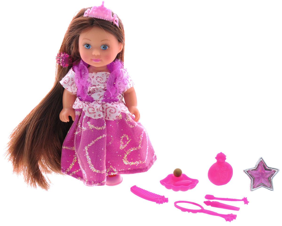 Simba Мини-кукла Еви Rapunzel цвет платья розовый simba игровой набор с мини куклой evi love fairy carriage