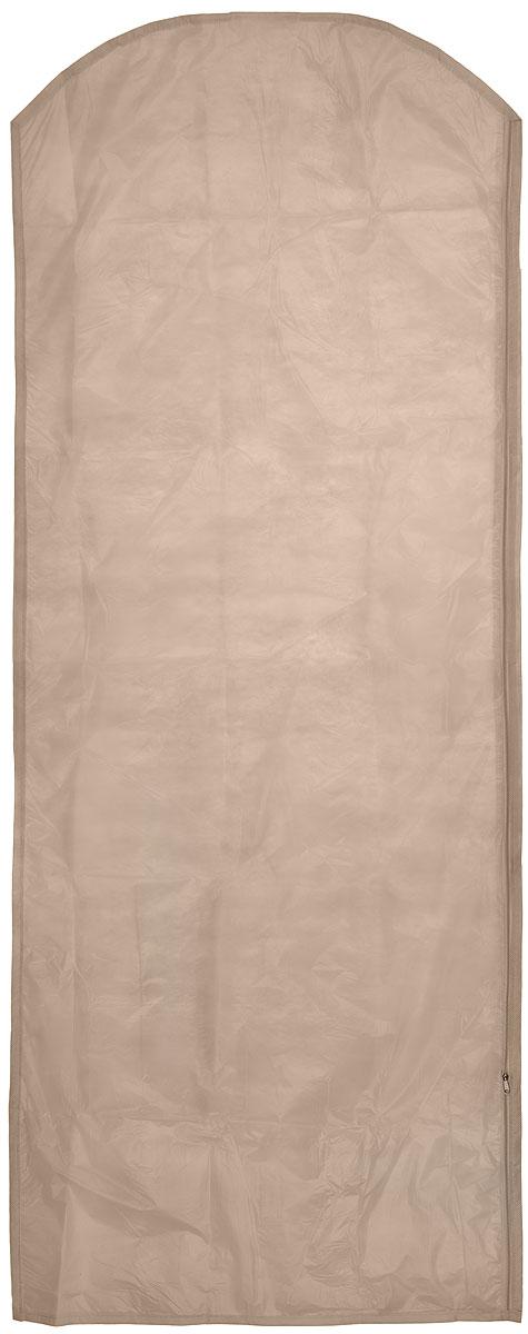 """Чехол для одежды """"Eva"""", цвет: бежевый, 65 х 150 см"""