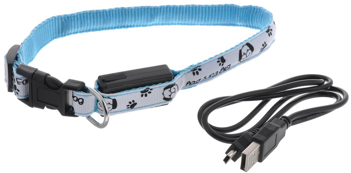 Ошейник для собак V.I.Pet Собачки и лапки, светящийся, цвет: белый, голубой, 28-40 см14-3400UM_белый, голубойСветящийся ошейник V.I.Pet Собачки и лапки - это современный аксессуар, предназначенныйдля собак. Он выполнен из прочного нейлона и прошит светоотражающей нейлоновой нитью.Такой ошейник видно на расстоянии более 300 метров, кроме того, питомец будет заметенводителям транспорта, что обеспечит безопасность прогулки. Особенности ошейника:- работает в 3 режимах: постоянный свет, быстрое мигание, мигание;- в темное время суток виден на расстоянии до 300 метров; - заряжается через USB-кабель (входит в комплект); - прошит с обеих сторон светоотражающей нитью; Размер ошейника: M (28-40 см).Ширина: 1,5 см.