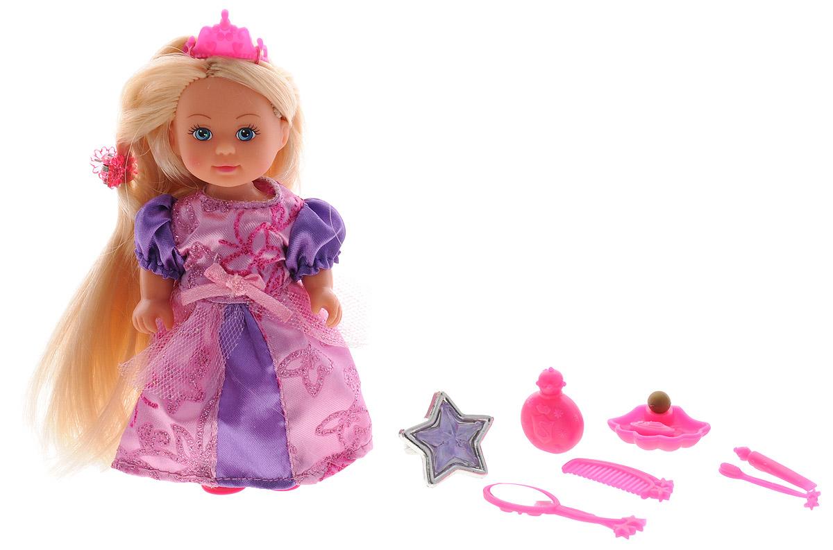 Simba Мини-кукла Еви Rapunzel цвет платья сиреневый гребни bizon гребень диадема заколка