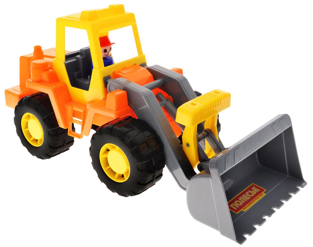 Полесье Трактор-погрузчик Техник цвет желтый оранжевый серый машина детская полесье полесье набор автомобиль трейлер трактор погрузчик