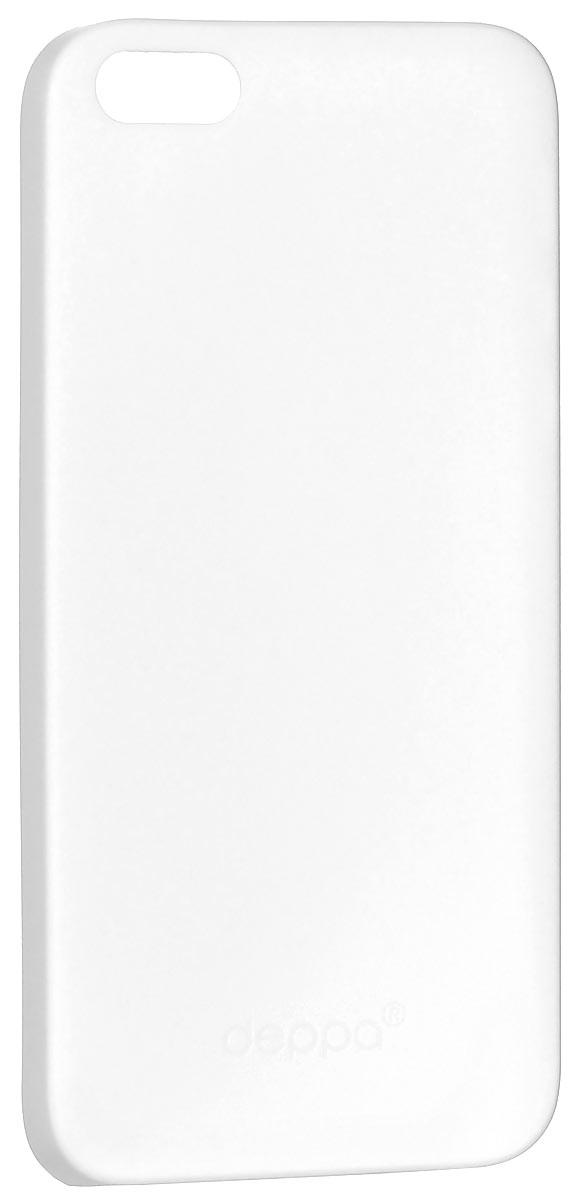 Deppa Sky Case чехол для Apple iPhone 5/5s, White86001Чехол Deppa Sky Case для iPhone 5/5s предназначен для защиты корпуса смартфона от механических повреждений и царапин в процессе эксплуатации. Имеется свободный доступ ко всем разъемам и кнопкам устройства. Чехол изготовлен из полипропилена и имеет толщину 0,3 мм. В комплект также входит защитная пленка из трехслойного японского материала PET.