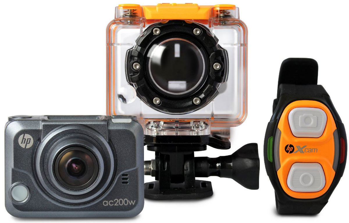 HP ac200w экшн-камера2671001221Экшн-камера HP ac200 предназначена для активного отдыха и спорта. Водонепроницаемый бокс позволяет закрепить ее на руль велосипеда или мотоцикла, подводное снаряжение, оборудование для серфинга илюбое другое. Камера HP ac200 производит широкоформатную запись с разрешением 1080p и углом обзора 170 градусов, а также с ее помощи вы сможете сделать великолепные фотографии в самых экстремальных условиях!Как выбрать экшн-камеру. Статья OZON Гид
