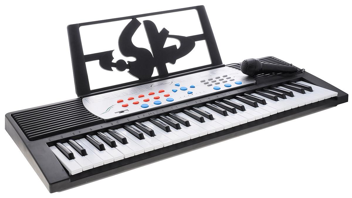 ABtoys Синтезатор DoReMi 54 клавиши с микрофоном D-00007