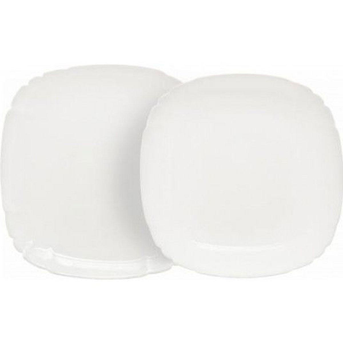 Набор столовой посуды Luminarc Lotusia, 12 предметовH3526Набор Luminarc Lotusia состоит из 6 суповых тарелок и 6 обеденных тарелок. Изделия выполнены из ударопрочного стекла, имеют яркий дизайн с рельефным краям и изящную квадратную форму. Посуда отличается прочностью, гигиеничностью и долгим сроком службы, она устойчива к появлению царапин и резким перепадам температур. Такой набор прекрасно подойдет как для повседневного использования, так и для праздников или особенных случаев. Набор столовой посуды Luminarc Lotusia - это не только яркий и полезный подарок для родных и близких, а также великолепное дизайнерское решение для вашей кухни или столовой. Можно мыть в посудомоечной машине и использовать в микроволновой печи. Размер суповой тарелки: 20,5 см х 20,5 см. Высота суповой тарелки: 3,5 см.Размер обеденной тарелки: 25 см х 25 см. Высота обеденной тарелки: 1,8 см.