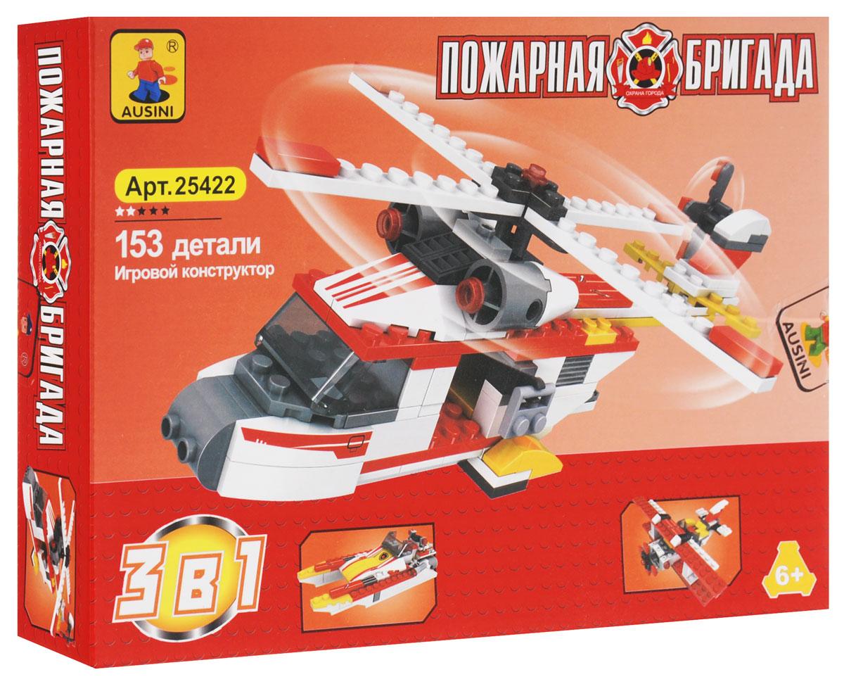 Ausini Конструктор Пожарная бригада 3 в 1 ausini конструктор гонки 3 в 1 25420