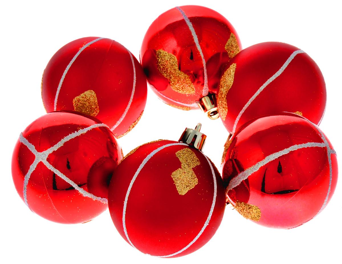 Набор новогодних подвесных украшений Феникс-Презент Ассорти, цвет: красный, диаметр 6 см, 6 шт35512Набор новогодних подвесных украшений Феникс-Презент Ассорти прекрасно подойдет для праздничного декора вашей ели. Набор состоит из 6 пластиковых украшений в виде матовых и глянцевых шаров, декорированных блестками. Для удобного размещения на елке для каждого украшения предусмотрена текстильная петелька.Елочная игрушка - символ Нового года. Она несет в себе волшебство и красоту праздника. Создайте в своем доме атмосферу веселья и радости, украшая новогоднюю елку нарядными игрушками, которые будут из года в год накапливать теплоту воспоминаний. Откройте для себя удивительный мир сказок и грез. Почувствуйте волшебные минуты ожидания праздника, создайте новогоднее настроение вашим дорогим и близким.