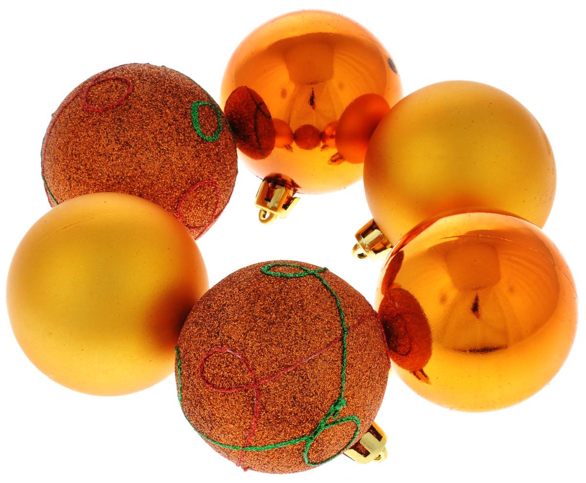 Набор новогодних подвесных украшений Феникс-Презент Шар, цвет: медный, диаметр 6 см, 6 шт35480Набор новогодних подвесных украшений Феникс-Презент Шар прекрасно подойдет для праздничного декора новогодней ели. Набор состоит из 6 пластиковых украшений в виде глянцевых шаров. Для удобного размещения на елке для каждого украшения предусмотрена петелька.Елочная игрушка - символ Нового года. Она несет в себе волшебство и красоту праздника. Создайте в своем доме атмосферу веселья и радости, украшая новогоднюю елку нарядными игрушками, которые будут из года в год накапливать теплоту воспоминаний. Откройте для себя удивительный мир сказок и грез. Почувствуйте волшебные минуты ожидания праздника, создайте новогоднее настроение вашим дорогим и близким.