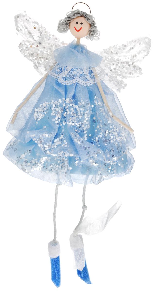 Новогоднее подвесное украшение Sima-land Воздушная девочка, цвет: голубой, высота 32 см686011Новогоднее украшение Sima-land Воздушная девочка отлично подойдет для декорации вашего дома и новогодней ели. Украшение выполнено в виде декоративной куклы и оформлено блестками. Изделие оснащено специальным металлическим кольцом для подвешивания. Елочная игрушка - символ Нового года. Она несет в себе волшебство и красоту праздника. Создайте в своем доме атмосферу веселья и радости, украшая всей семьей новогоднюю елку нарядными игрушками, которые будут из года в год накапливать теплоту воспоминаний.