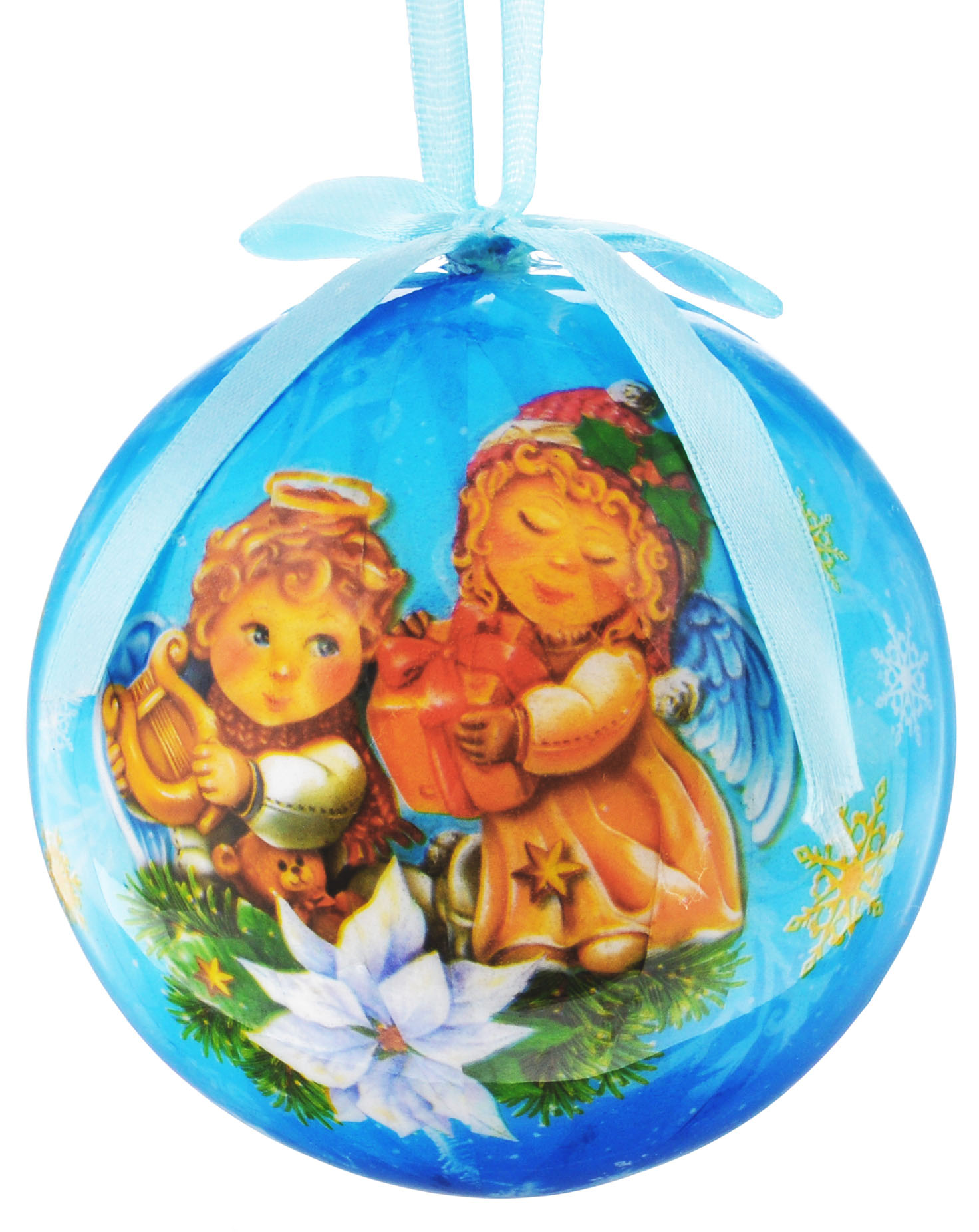 Новогоднее подвесное украшение Sima-land Шар. Гармонии и счастья, диаметр 10 см1099615Новогоднее подвесное украшение Sima-land Шар. Гармонии и счастья выполнено из пенопласта, оформлено изображением ангелочков и надписью Гармонии и счастья. С помощью специальной петельки украшение можно повесить в любом понравившемся вам месте. Но, конечно, удачнее всего оно будет смотреться на праздничной елке.Елочная игрушка - символ Нового года. Она несет в себе волшебство и красоту праздника. Создайте в своем доме атмосферу веселья и радости, украшая новогоднюю елку нарядными игрушками, которые будут из года в год накапливать теплоту воспоминаний.