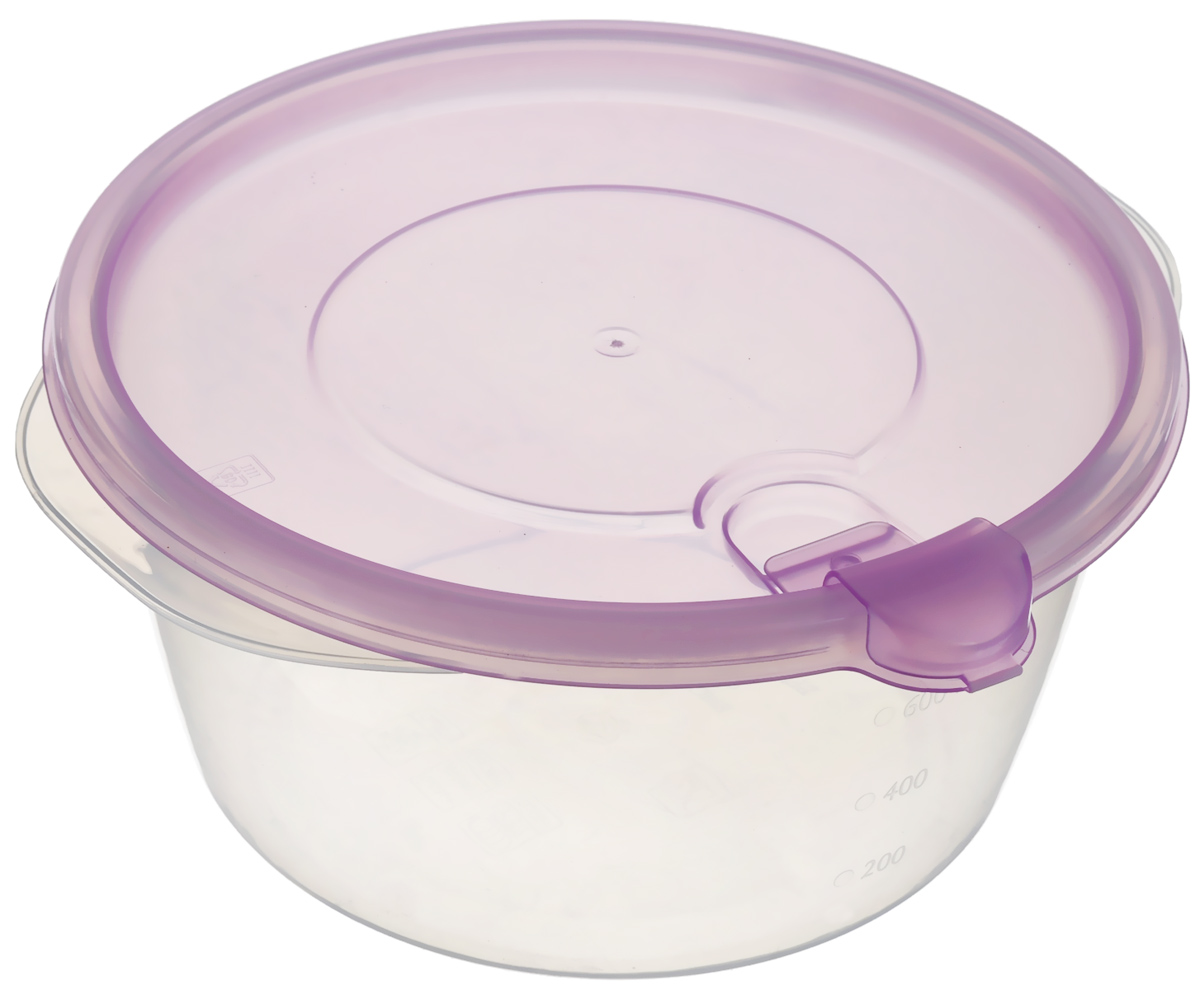 Контейнер Phibo Фрэш, с клапаном, цвет: прозрачный, сиреневый, 750 млС11516_прозрачный, сиреневыйКонтейнер Phibo Фрэш изготовлен из высококачественного полипропилена и не содержит Бисфенол А. Крышка легко и плотно закрывается, а также снабжена клапаном. Контейнер устойчив к воздействию масел и жиров, легко моется. Подходит для использования в микроволновой печи. Можно мыть в посудомоечной машине.Диаметр (по верхнему краю): 15 см.Высота: 7,5 см.