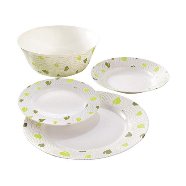 Набор столовой посуды Luminarc Amely, 19 предметовКРС-301Набор Luminarc Amely состоит из 6 суповых тарелок, 6 обеденных тарелок, 6 десертных тарелок и глубокого салатника. Изделия выполнены из ударопрочного стекла, имеют яркий дизайн и классическую круглую форму.Посуда отличается прочностью, гигиеничностью и долгим сроком службы, она устойчива к появлению царапин и резким перепадам температур.Такой набор прекрасно подойдет как для повседневного использования, так и для праздников или особенных случаев.Набор столовой посуды Luminarc Amely - это не только яркий и полезный подарок для родных и близких, а также великолепное дизайнерское решение для вашей кухни или столовой.Можно мыть в посудомоечной машине и использовать в микроволновой печи.Диаметр суповой тарелки: 22 см.Высота суповой тарелки: 3,2 см. Диаметр обеденной тарелки: 26 см.Высота обеденной тарелки: 2,2 см.Диаметр десертной тарелки: 19 см.Высота десертной тарелки: 1,9 см.Диаметр салатника: 24 см.Высота стенки салатника: 9,8 см.
