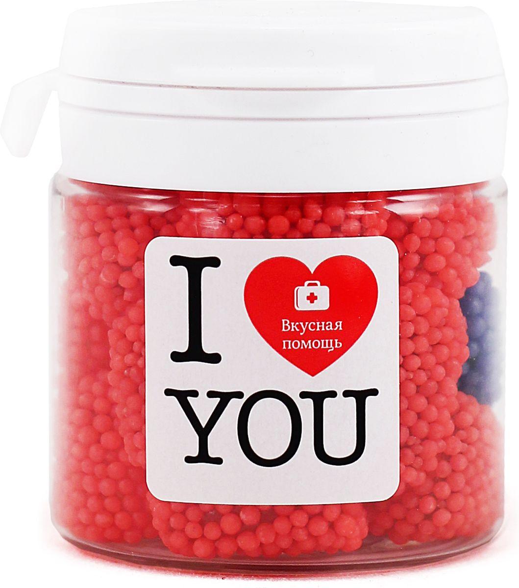 Конфеты Вкусная помощь Я тебя люблю, 50 мл чай люблю тебя